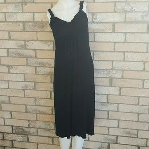 Ripe Dresses - Ripe Australia black ruffled straps slinky Dress